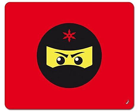 Amazon.com: 1art1 Gaming Mouse Pad - Ninja Icon, Red (9 x 7 ...