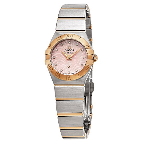 Omega Women's 'Constellation' Swiss Quartz Stainless Steel Dress Watch, Color:Two Tone (Model: 12320246057003)
