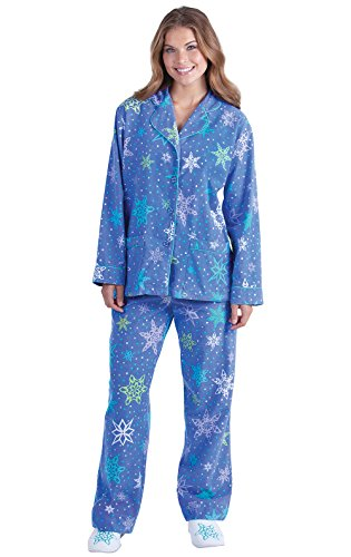 Addison Meadow Flannel Pajamas Women - Winter Pajamas for Women, Flakey, S, 4-6
