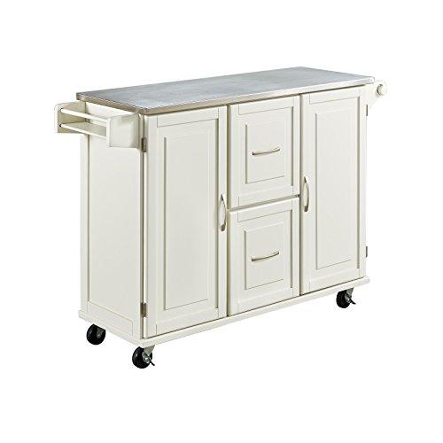 Amazon.com   Home Styles 4514 95 Patriot Kitchen Cart, White   Kitchen  Islands U0026 Carts