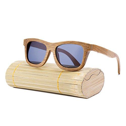 de de Hombres Las de de de de Gafas bambú Sol Grey Madera los de Gafas los de de Las Hombres Gafas Sol Caja Gafas Sol la Las Dastrues de con qzwAYX1