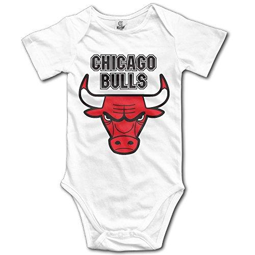 Noah Dana NBA-Chicago-Bulls-Badge Short Sleev Baby Onesiese for Unisex Boys Girls