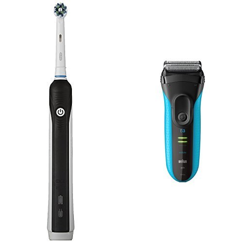 Price comparison product image Oral-B 1000 with Braun 3040 Grooming Pack