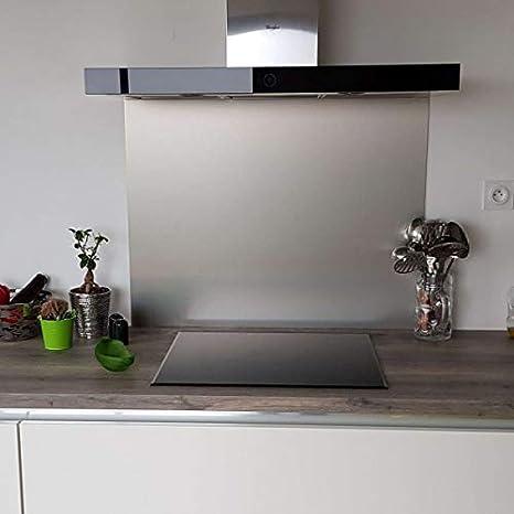 Credence Composite Aluminio cepillado - Altura 50 cm x Ancho 60 cm ...