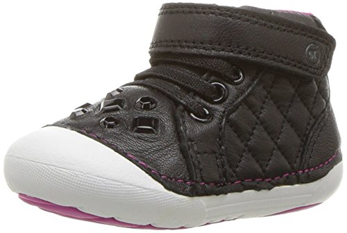 Stride Rite Baby Girl (Stride Rite Girls' Soft Motion Jada Ankle Boot, Black, 5 Wide US Toddler)