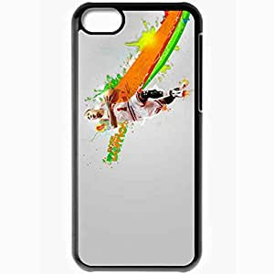 Personalized iPhone 5C Cell phone Case/Cover Skin 14696 bulls wp 49 sm Black