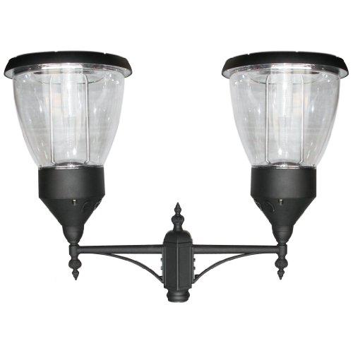 Balmoral Lamp (PL15 Solar 'Balmoral' Post / Pole Top Light (Double Lampshade))