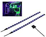 LEDdess PC LED Flexible Light Strip Computer Lighting UV Purple with Magnetic for PC Case Computer Lighting Kit (30cm, 18leds,S Series, The 2nd Gen)