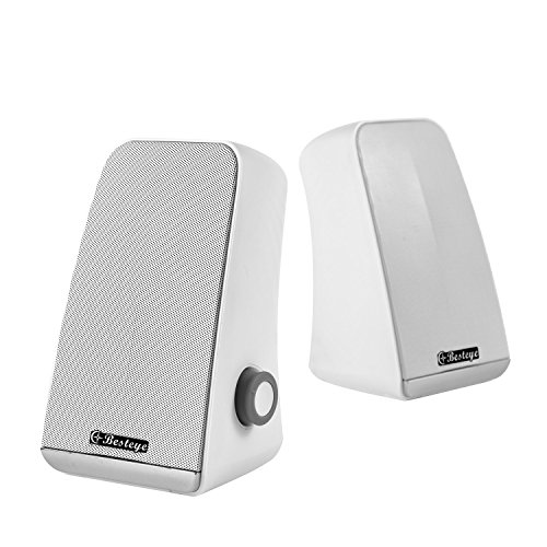 Besteye BE-829 USB Speakers for Computer Laptop Notebook Plug and Play with Enhanced Bass Resonator Stereo Sound PC Computer Speaker White by Besteye (Image #3)