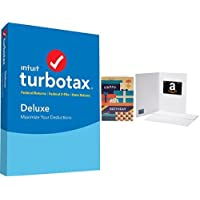 TurboTax Deluxe 2017 Tax Software Federal & State + Fed Efile PC/MAC Disc + $10 Gift Card