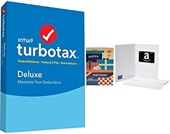 TurboTax Deluxe 2017 Tax Software Federal & State + $10 GC