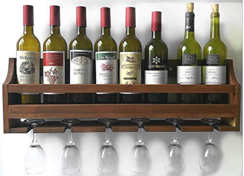 8 bottle wall mounted wine rack - 2