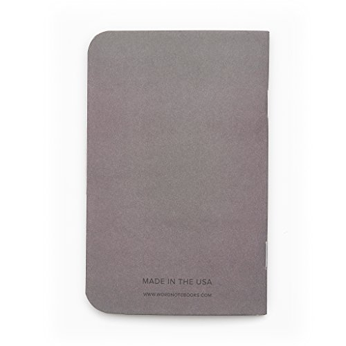 Word. Notebooks Charcoal 3-Pack Small Pocket Notebooks Photo #4