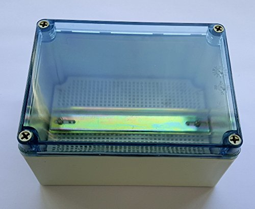 Clear top Waterproof Plastic Electrical Enclosure with mounting plate & DIN rail