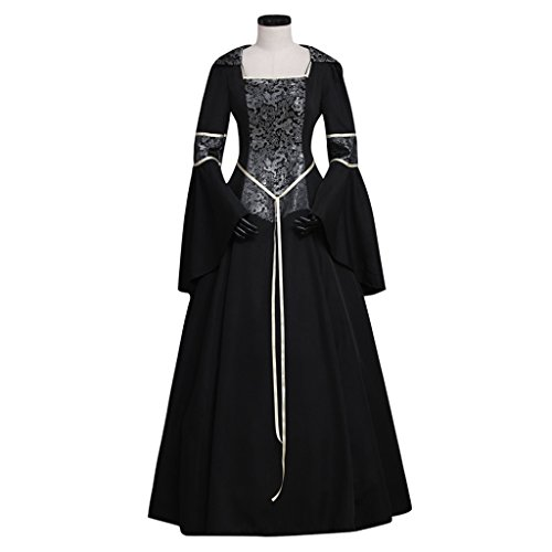 [CosplayDiy Women's Medieval Gothic Witch Vampire Costume Dress S] (Adult Vintage Witch Costumes)