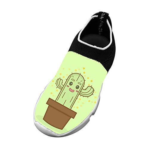 Cute Cactus Flyknit Shoes Light Sports Transform Running Shoes For Kids