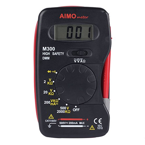 Hand Held Ohmmeter : Aimometer m pocket size digital multimeter handheld dmm