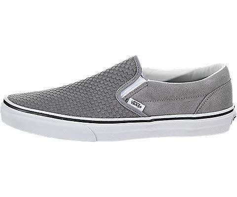 (Vans Men's Embossed Suede Slip-On Skate Shoe (11 M US, Frost Gray True White) )