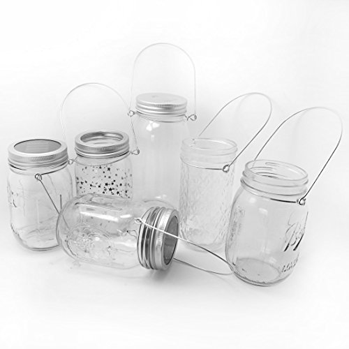 Mason Jar Hanger, 12 Pack Black Stainless Steel Wire Handles(Handle-Ease) for Regular Mouth Mason Jar, Ball Pint Jar, Canning Jars, Best Jar Holder Hooks Hanging Handle, Set of 12, Black by Aobik (Image #5)