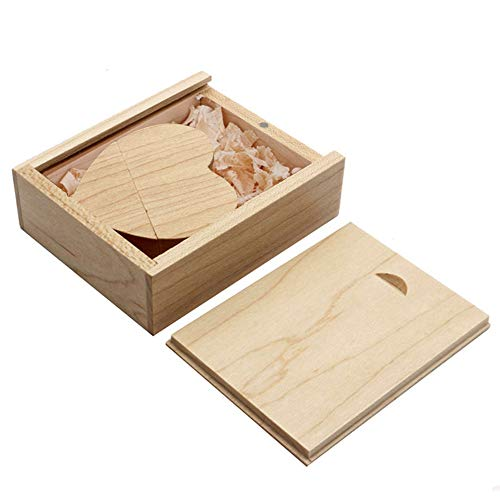 - Ace one Wooden Heart Shape USB Flash Drive USB Memory Stick Thumb Drivers 32gb 2.0 High Speed with Matching Box for Novelty Gift(Maple 32g)