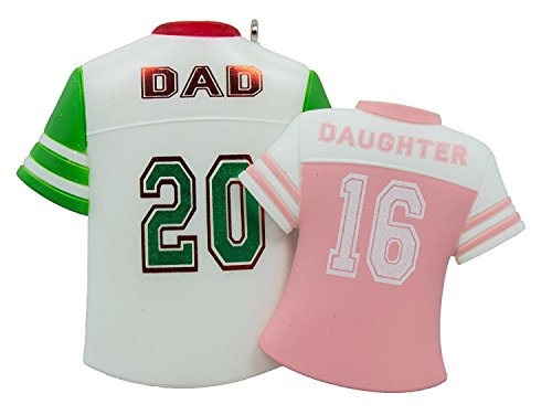 Hallmark Keepsake Ornament Dad and Daughter Colorful Jerseys 2016 (Ornament Christmas Daddy Daughter)