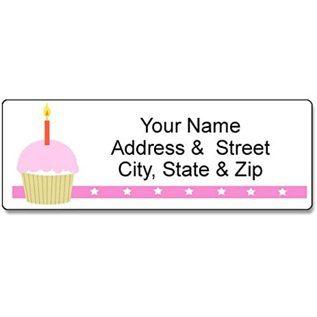 amazon com girl birthday address label customized return address