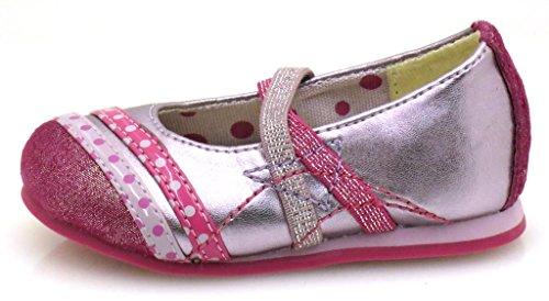 Primigi Mädchenballerinas Ballerinas lose Einlage Leder Textil gepunktet Rosa
