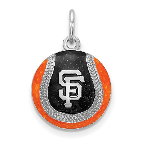 MLB San Francisco Giants Sterling Silver San Francisco Giants SF Enameled Baseball Charm Size One Size