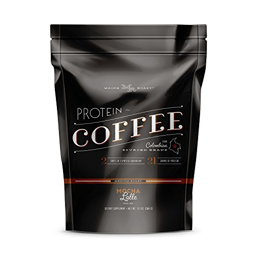 Complete Nutrition Maine Roast Protein Coffee, Mocha Latte, High Protein Coffee, Whey Protein, Espresso, Keto Friendly, 16.8 Oz Pouch (15 servings)