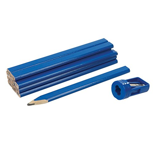 13 Piece Silverline Carpenters Pencils & Sharpener Set -