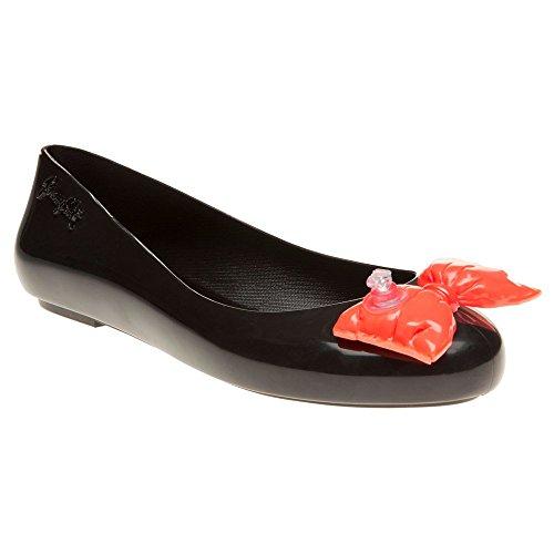 Melissa Jeremy Scott JS Space Love Bow Damen Schuhe Schwarz Schwarz