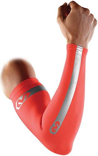 McDavid Pair Compression Reflective Arm Sleeves, Small, Bright Orange