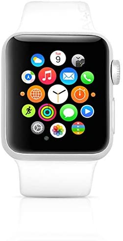 Apple Watch Series 3 (GPS + Cellular, 42MM) - Silver Aluminum Case with White Sport Band (Renewed)