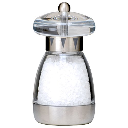 William Bounds 04120 Mushroom Mill - Salt Grinder - Acrylic and Brushed Stainless Steel Finish