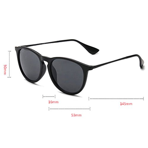 Fashion Zhhlaixing Mens Unisex Color for Round Mode Sunglasses Retro Sunglasses Personality gray Film fqqaw5