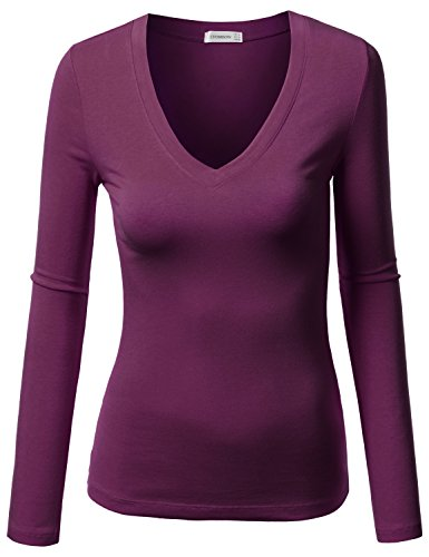 71f208bbdd9 J.TOMSON Womens Plain Basic Cotton Spandex Long Sleeve T Shirt - Buy Online  in Oman.