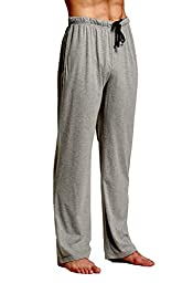CYZ Comfortable Jersey Cotton Knit Pajama Lounge Sleep Pants -Charcoal-M