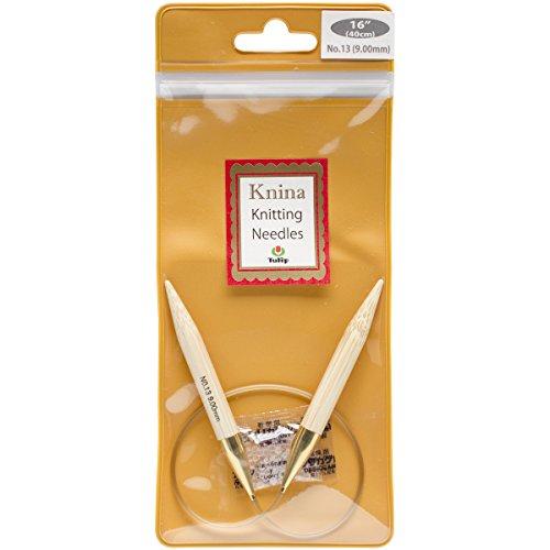 """UPC 846550013257, Tulip Needle Company 16"""" Knina Knitting Needles, 13/9mm"""