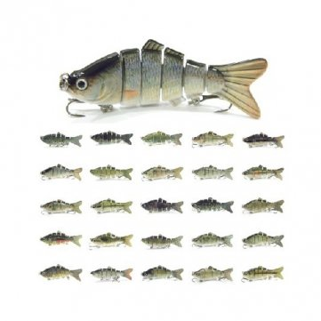 difficile Haute Lure sections Qualité poisson Appât 10CM 6 Swimbait wxvqz6