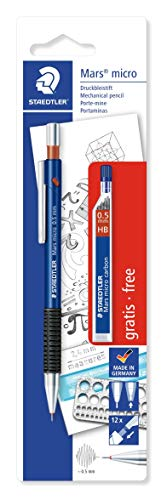 Staedtler Mars Micro 7755ABK25D Mechanical Pencil 0.5mm with Lead Tube