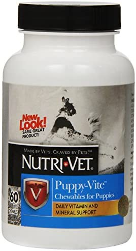 Nutri-Vet Multi-Vite Chewables for Puppies Formulated with Vitamins Minerals to Support Balanced Diet 60 Count