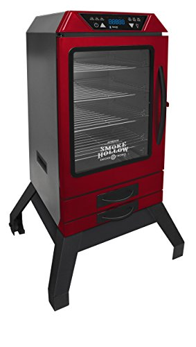 Smoke Hollow D4015RS  40-Inch  Digital Electric Smoker with Smoke-Tronix Bluetooth Technology, Stand Included, Red