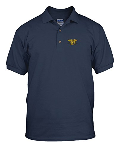 U.S. Navy Seal Military Embroidery Embroidered Unisex Adult Golf Polo Shirt Navy X-Large - Navy Seal Embroidered T-shirt