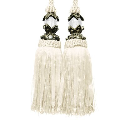 Textiles Plus Aladdin Tassel Curtain Tieback, Ivory INC L136-Ivory