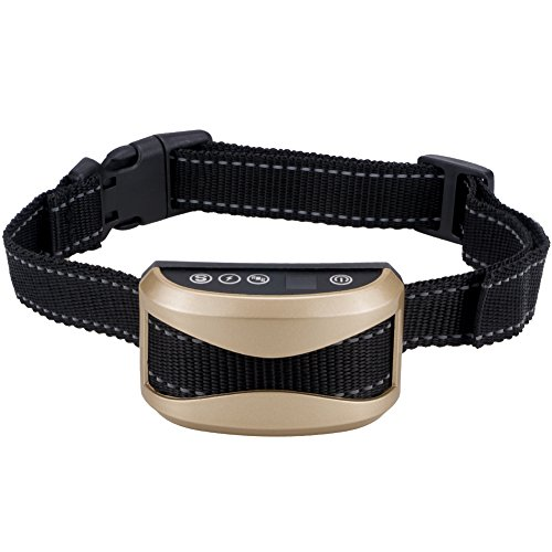 ibulors Rechargeable No Bark Dog Collar with Vibration and No Harm Shock for Small Medium Large Dog