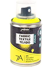 Pébéo - Fabric Paint Spray for Textiles 7A Spray - Natural and synthetic fabrics - Water-based - Solvent-free - Spray Paint for textile design - 100ml - Fluorescent Yellow
