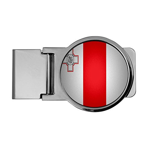 Maltese Money Clip (Premium Money Clip - Flag of Malta (Maltese) - Round Design)