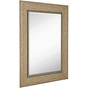 Amazon Com Wide Transitional Framed Mirror 1 Beveled Silver