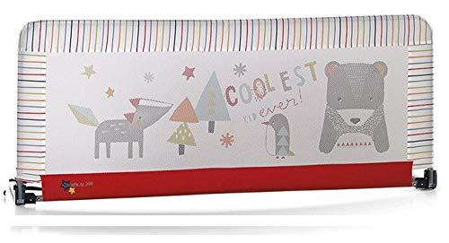 Jane - Barrera de seguridad para cama (130 x 55 cm)  estampado rayas multicolor/rojo