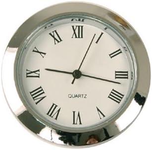 Amazoncom Mini Clock Quartz Movement Insert Round 1 716 Silver